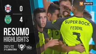 Taça Placard (3ª Eliminatória): Resumo CF Os Belenenses 0-4 Sporting CP
