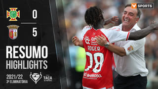 Taça Placard (3ª Eliminatória): Resumo Moitense 0-5 SC Braga